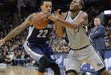 """Nerezultatyviose rungtynėse """"Spurs"""" susitvarkė su Memfio krepšininkais"""