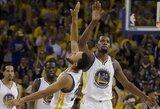 """""""Spurs"""" – """"Warriors"""": nerimą kelianti K.Leonardo sveikata ir du """"Warriors"""" gelbėtojai"""