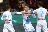 """Uraganiška """"Napoli"""" rungtynių pradžia paskandino """"Milan"""" laivą"""