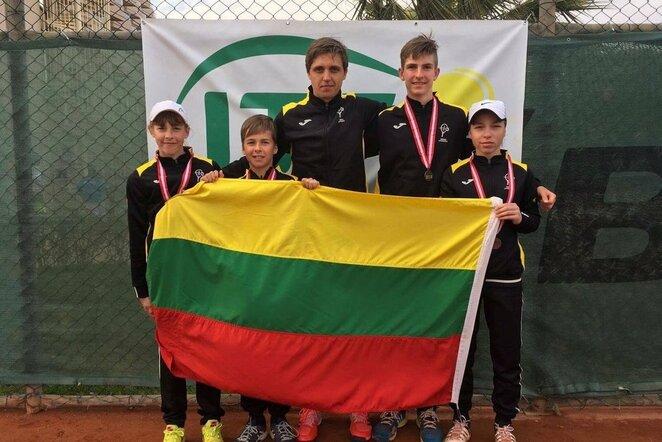 Lietuvos tenisininkų delegacija | Organizatorių nuotr.