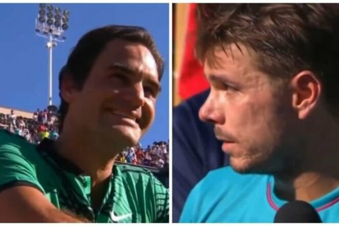 Stanas Wawrinka ir Rogeris Federeris   Youtube.com nuotr.