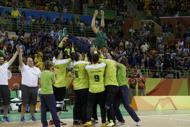 Lietuvos golbolo rinktinė parolimpiadoje iškovojo aukso medalius | Rimanto Navicko/RGB pictures nuotr.