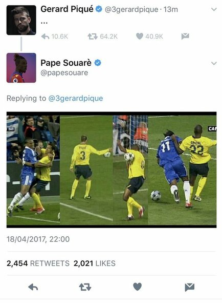 "Pape Souare atsakymas | ""Twitter"" nuotr."