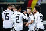 Tris įvarčius pelnę vokiečiai lengvai įveikė Rusiją