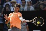 ATP serijos teniso turnyro Romoje finale žais N.Djokovičius ir R.Nadalis