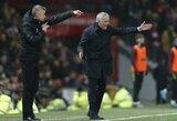 """J.Mourinho abejoja, ar O.G.Solskjaeras yra pakankamo lygio treneris """"Man United"""" klubui"""