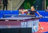 Lietuvos stalo tenisininkes olimpinėje atrankoje sustabdė pirmojo šimtuko žaidėjos