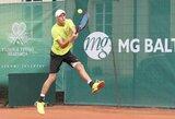 Tenisininkui L.Mugevičiui nepavyko pasiekti didžiausios karjeros pergalės