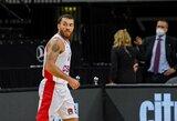 M.Jamesas grįžo į aikštę, CSKA nusileido Lenkijos klubui