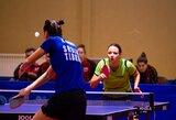 Lietuvos moterų stalo teniso rinktinė po dramatiškos kovos pralaimėjo serbėms