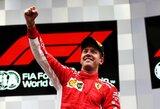 """S.Vettelis iškovojo """"Ferrari"""" pirmą pergalę Belgijoje per 9 metus, F.Alonso bolidas pakilo į orą"""