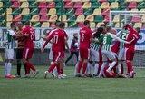 """Emocingas LFF taurės pusfinalis baigėsi """"Sūduvos"""" pergale po pratęsimo prieš """"Žalgirį"""""""