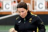 """Lietuvos moterų teniso rinktinės kapitonė: """"Laimėti prieš didžiojo kirčio varžybų patirties turinčias žaidėjas mūsiškėms kol kas per sunku"""""""