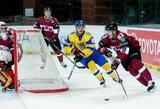Baltijos ledo ritulio taurės turnyro starte Klaipėdoje latviai sutriuškino ukrainiečius