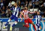 """""""Atletico"""" rungtynes su """"La Liga"""" vidutiniokais baigė lygiosiomis"""