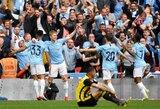 """Nesustabdomi Anglijoje: FA taurės finale """"Watford"""" futbolininkus sutriuškinęs """"Man City"""" iškovojo trečią titulą"""