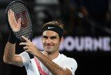 """Legenda nestabdo: R.Federeris pateko į """"Australian Open"""" pusfinalį"""