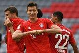 """""""Bayern"""" strategas atskleidė pokalbį su R.Lewandowskiu, paskatinusį puolėją pelnyti dublį"""