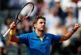 """Paskutinę prancūzų viltį """"French Open"""" turnyro vyrų varžybose sudaužė S.Wawrinka"""