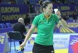 A.Stapušaitytė pergalingai startavo badmintono turnyre Brazilijoje