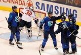 """Amerikiečiai šokiruoti: Europos rinktinė """"World Cup of Hockey"""" turnyro starte parklupdė JAV ledo ritulininkus"""