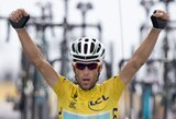 """Ketvirtą pergalę iškovojęs V.Nibali praktiškai užsitikrino """"Tour de France"""" čempiono titulą"""