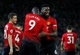 """""""Manchester United"""" ir toliau žaidžia galingai: du P.Pogbos įvarčiai, raudona kortelė ir trečia iš eilės rezultatyvi pergalė"""