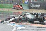 Beprotybė Vokietijoje: L.Hamiltono fiasko, V.Botto ir C.Leclerco avarijos, M.Verstappeno pergalė ir D.Kvyato bei S.Vettelio stebuklai
