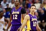 """Be K.Bryanto žaidę """"Lakers"""" krepšininkai nugalėjo vienus Vakarų konferencijos autsaiderių"""