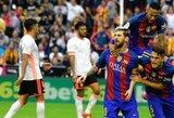 """""""Barcelona"""" klubas tik per pridėtą laiką sugebėjo palaužti """"Valencia"""" ekipą"""