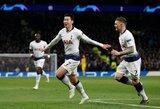 """Pirmojoje akistatoje Čempionų lygos istorijoje – """"Tottenham"""" pergalė prieš """"Manchester City""""."""