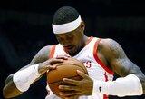 """Debiutavęs C.Anthony prisidėjo prie įspūdingo """"Rockets"""" puolimo"""