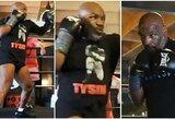 M.Tysonas pasidalino naujais vaizdais iš treniruotės, jį vaidinsiantis J.Foxxas – sužavėtas
