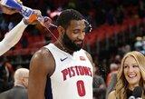 """""""Pistons"""" pergalės kalviu buvo galingą dvigubą dublį surinkęs A.Drummondas"""