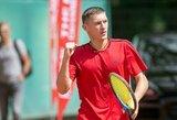 """T.Babelio debiutą """"Challenger"""" vienetų varžybose apkartino vienas talentingiausių JAV tenisininkų"""