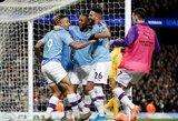 """Intriga grįžta: """"Man City"""" užtikrintai įveikė """"Leicester City"""""""