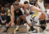 """S.Curry ir K.Duranto duetas išplėšė """"Warriors"""" pergalę Brukline"""