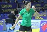 Badmintonininkė A.Stapušaitytė Pietų Korėjoje liko be pergalių