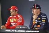 """Ch.Leclercas palygino M.Verstappeną su L.Hamiltonu: """"Su vienu lenktyniauti linksmiau, su kitu – saugiau"""""""