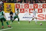 """LFF Supertaurė: """"Žalgirį"""" pranokusi """"Sūduva"""" iškovojo pirmąjį sezono titulą"""