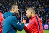"""""""Kaip to nesupratau anksčiau?"""" Sirgalius parodė, kaip K.Mbappe nukopijavo C.Ronaldo įvarčių šventimo būdus"""