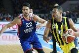"""Turkijos komandų mūšyje """"Anadolu Efes"""" palaužė """"Fenerbahče"""""""