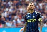 M.Icardi drama tęsiasi: futbolininkas pagaliau sveikas, tačiau M.Spalletti jo neįtraukia į sudėtį dėl klubo pažeminimo