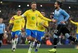 """Pergalingą įvartį brazilams pelnęs Neymaras: """"Urugvajus privertė mus dirbti tiek gynyboje, tiek puolime"""""""