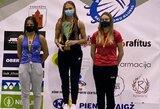 Panevėžyje paaiškėjo naujieji Lietuvos badmintono čempionai