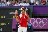 R.Federeris ir N.Djokovičius pateko į Londono olimpinių žaidynių pusfinalį