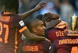"""""""Roma"""" derbyje patiesė """"Lazio"""" klubą, """"Juventus"""" šventė pergalę svečiuose"""
