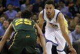 """Privalu pamatyti: S.Curry metimas iš aikštės vidurio, krepšininkų muštynės, """"alley-oop"""" perdavimai ir dėjimai (03.09)"""