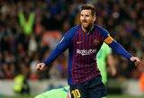 """Katalonija triumfuoja: L.Messi įvartis užtikrino """"Barcelonai"""" antrą iš eilės Ispanijos čempionų titulą"""