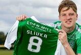 """Škotijoje V.Slivkos įvartis garantavo """"Hibernian"""" pergalę prieš lygos lyderius """"Celtic"""""""